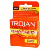 Trojan Charged Orgasmic Pleasure Intensified Lubricant Condoms 6 Packs of 3