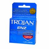 Trojan ENZ Armor Spermicidal Lubricant Condoms 6 Packs of 3