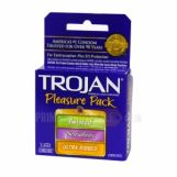 Trojan Pleasure Pack Lubricated Condoms 6 Packs of 3