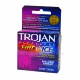 Trojan Pleasures Fire & Ice Dual Action Lubricant Condoms 6 Packs of 3