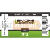 LSmoke E Cig Liquid Apple 12ml Bottle 0% of Nicotine