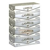 Gambler Filter Tubes 100 mm Silver 5 Cartons of 200